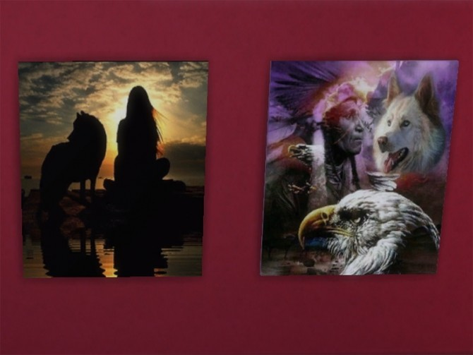 Sims 4 T55 American Indian paintings at Trudie55