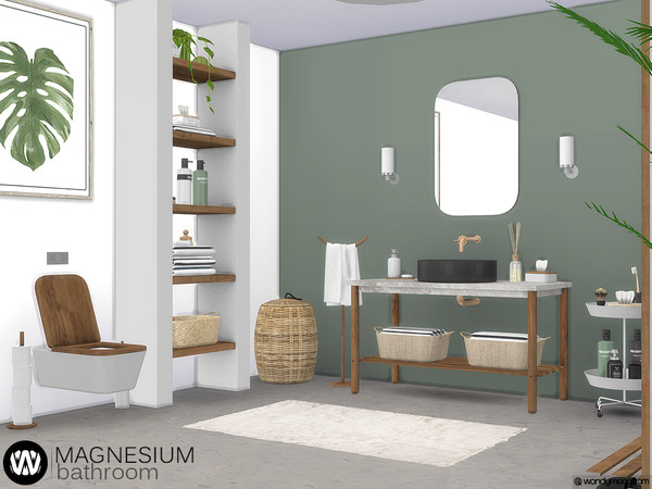 Magnesium Bathroom by wondymoon at TSR image 4315 Sims 4 Updates