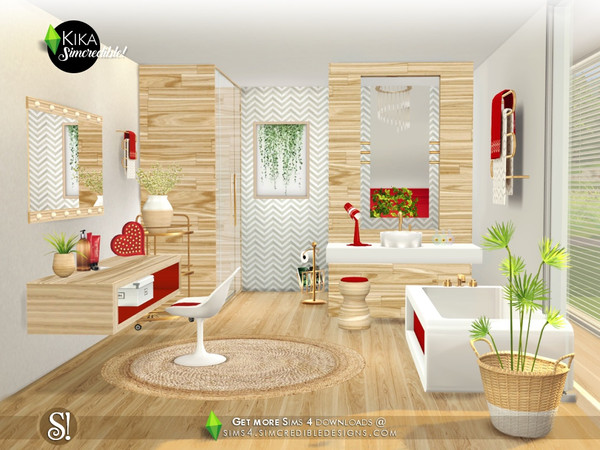 Kika bathroom by SIMcredible at TSR image 4319 Sims 4 Updates