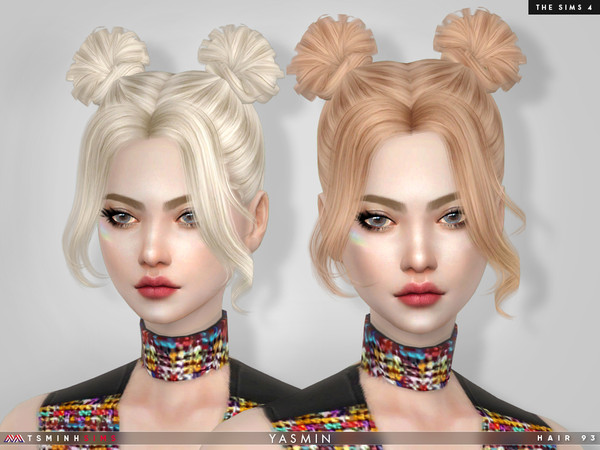 Yasmin Hair 93 by TsminhSims at TSR image 435 Sims 4 Updates
