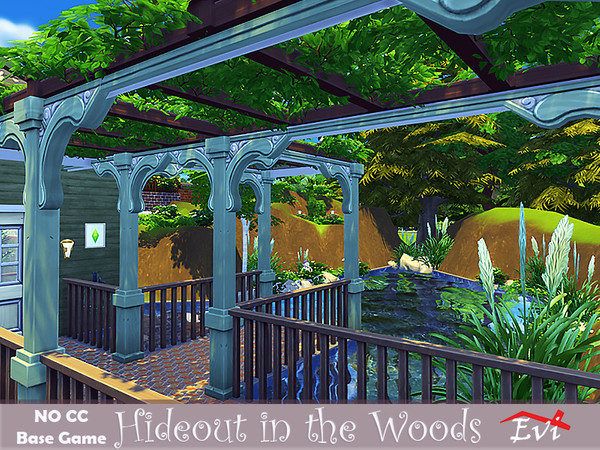 Hideout in the woods by evi at TSR image 438 Sims 4 Updates