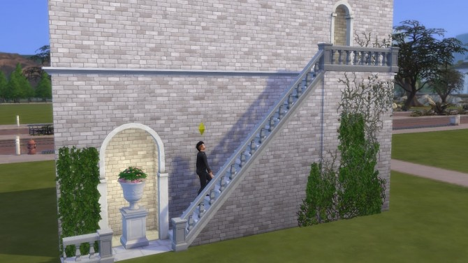 Sims 4 Baluster Stair Railing by TheJim07 at Mod The Sims