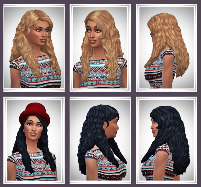 Sims 4 Side Part Wavy Hair at Birksches Sims Blog