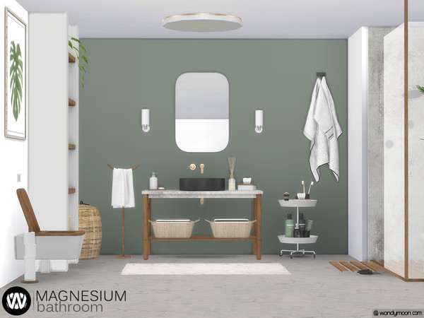 Magnesium Bathroom by wondymoon at TSR image 4415 Sims 4 Updates