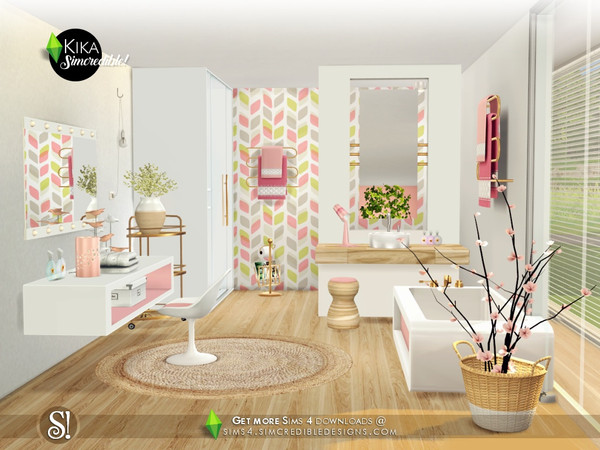 Kika bathroom by SIMcredible at TSR image 4419 Sims 4 Updates