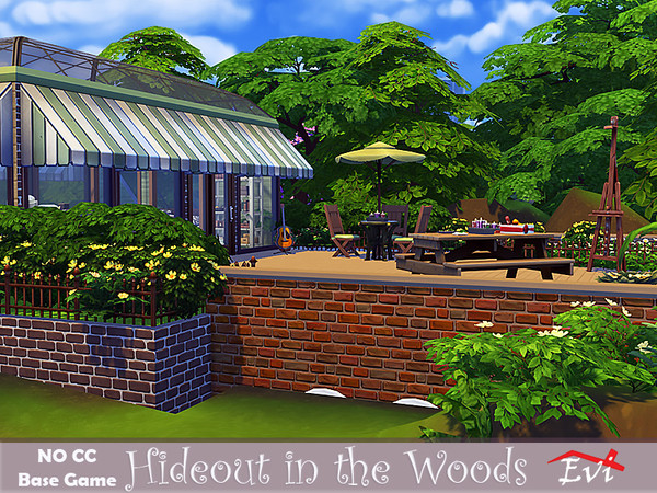 Hideout in the woods by evi at TSR image 448 Sims 4 Updates