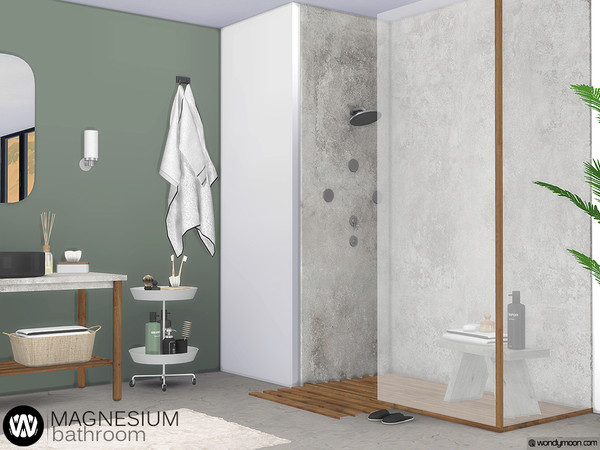 Magnesium Bathroom by wondymoon at TSR image 4515 Sims 4 Updates