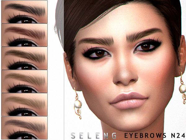 Sims 4 Eyebrows N24 by Seleng at TSR