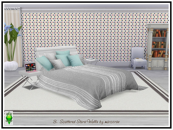 Sims 4 Scattered Stars Walls by marcorse at TSR