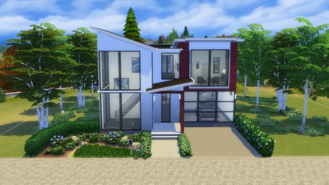 Sims 4 Open Contemporary Abode by Vulpus at Mod The Sims