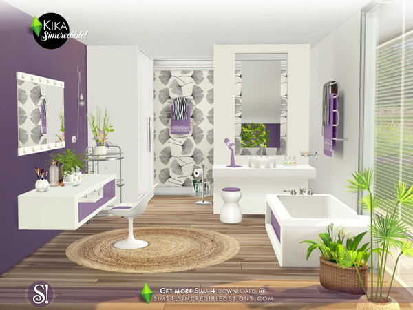 Kika bathroom by SIMcredible at TSR image 4619 Sims 4 Updates