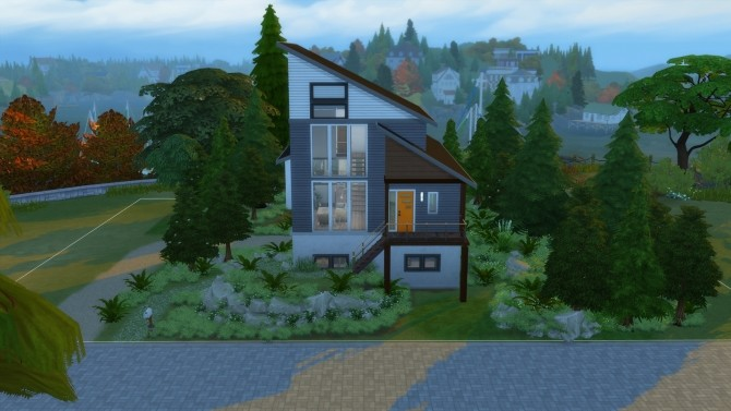 Sims 4 Wooded Lofted Home by Vulpus at Mod The Sims
