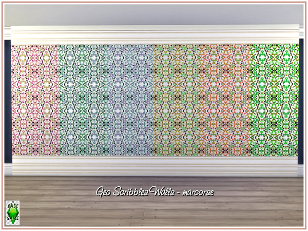 Geometric Scribbles Walls by marcorse at TSR image 4712 Sims 4 Updates
