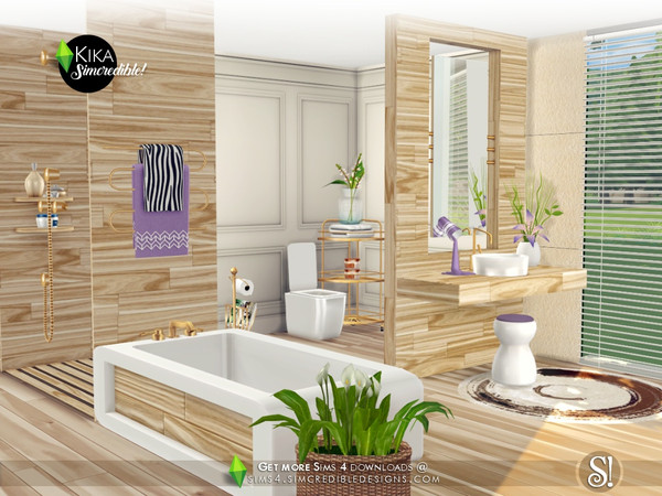Kika bathroom by SIMcredible at TSR image 4719 Sims 4 Updates
