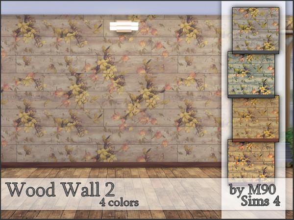 Sims 4 M90 Wood Wall 2 by Mircia90 at TSR