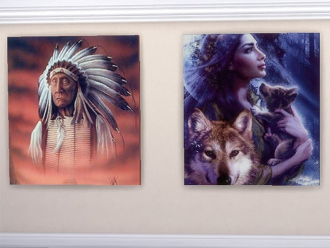 American Indian paintings at Trudie55 image 477 670x503 Sims 4 Updates