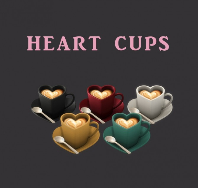 Sims 4 Heart Cups at Leo Sims