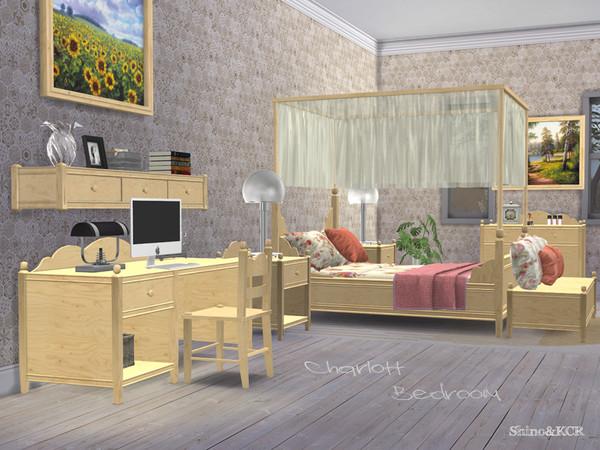 Sims 4 Bedroom Charlott by ShinoKCR at TSR