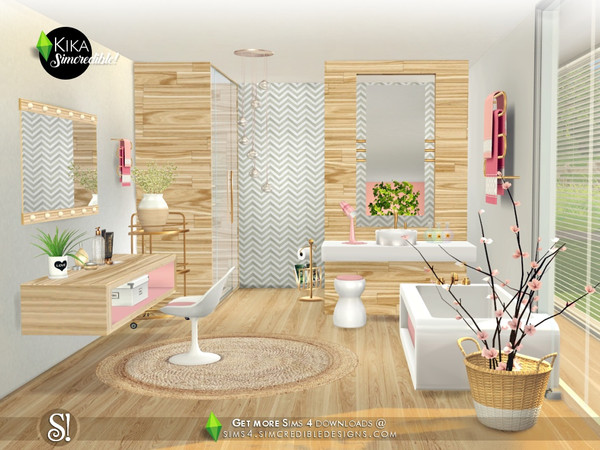 Kika bathroom by SIMcredible at TSR image 4817 Sims 4 Updates