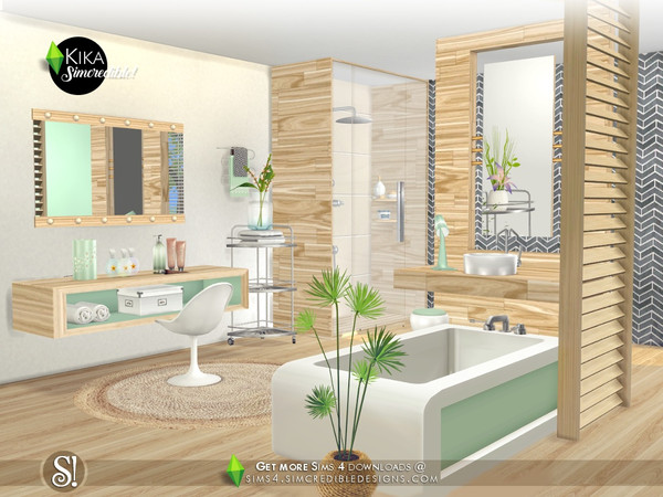 Kika bathroom by SIMcredible at TSR image 4919 Sims 4 Updates