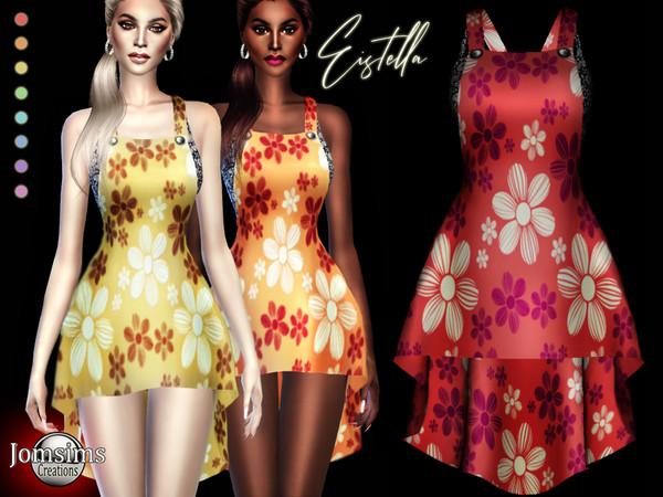Sims 4 Eistella dress by jomsims at TSR