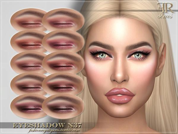 Sims 4 FRS Eyeshadow N37 by FashionRoyaltySims at TSR