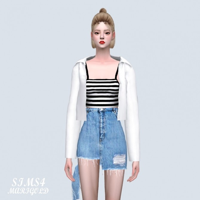 Open Shirts With Crop Top (P) at Marigold image 5310 670x670 Sims 4 Updates