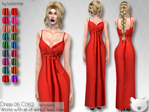 Dress 05 C052 by turksimmer at TSR image 5311 Sims 4 Updates