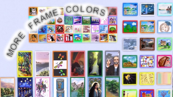 Sims 4 More Painting Frame Colors by BraveSim at Mod The Sims