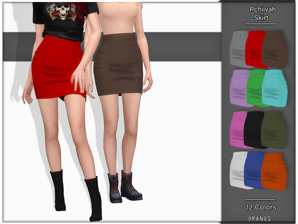 Sims 4 Pchilvah Skirt by OranosTR at TSR