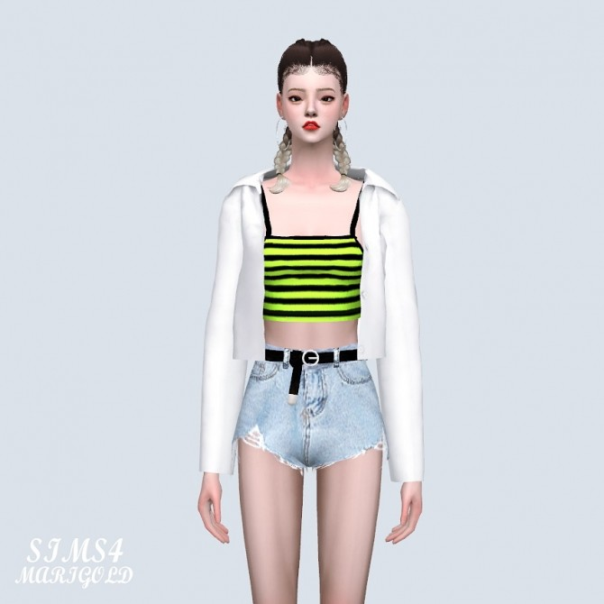 Open Shirts With Crop Top (P) at Marigold image 5410 670x670 Sims 4 Updates