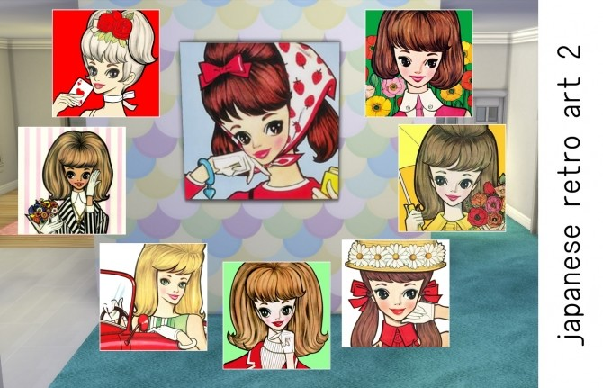 Japanese kawaii retro art by Feelshy at Mod The Sims image 551 670x431 Sims 4 Updates