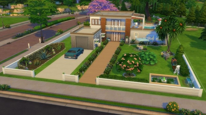 Sims 4 Lidéal house by Julimo at L'UniverSims