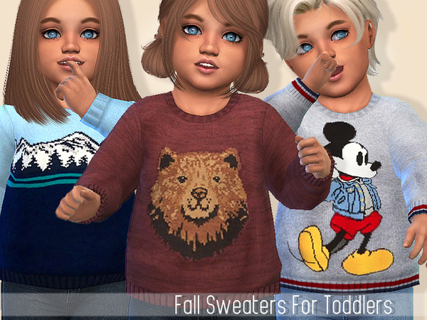 Fall Sweaters For Toddlers by Pinkzombiecupcakes at TSR image 5518 Sims 4 Updates