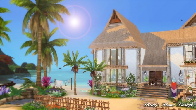 Tropical Island Home at Ruby's Home Design image 5618 670x377 Sims 4 Updates