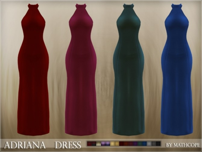 Adriana dress by Mathcope at Sims 4 Studio » Sims 4 Updates