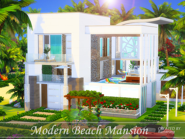 Modern Beach Mansion by Runaring at TSR image 570 Sims 4 Updates