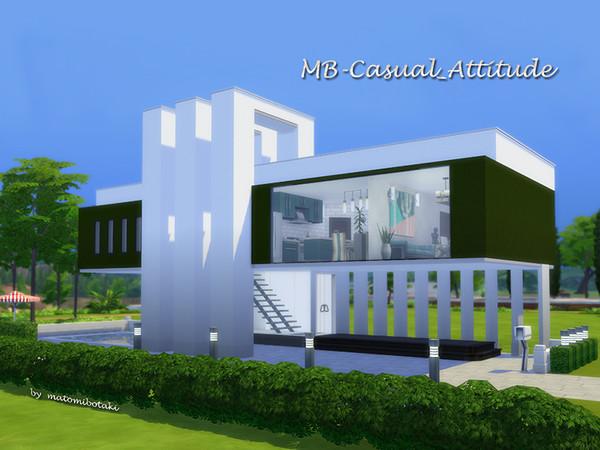 Sims 4 MB Casual Attitude house by matomibotaki at TSR