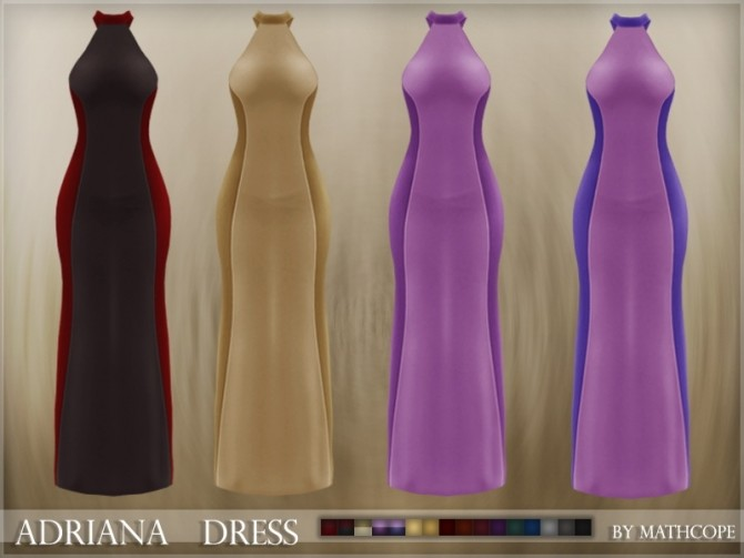 Adriana dress by Mathcope at Sims 4 Studio image 5820 670x503 Sims 4 Updates
