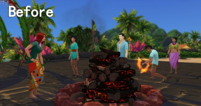 Sims 4 No Island Events Outfits by Miaow CC at Mod The Sims