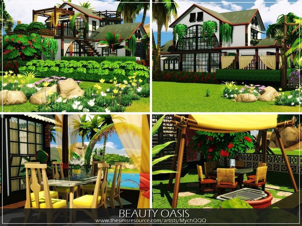 Sims 4 Beauty Oasis house by MychQQQ at TSR