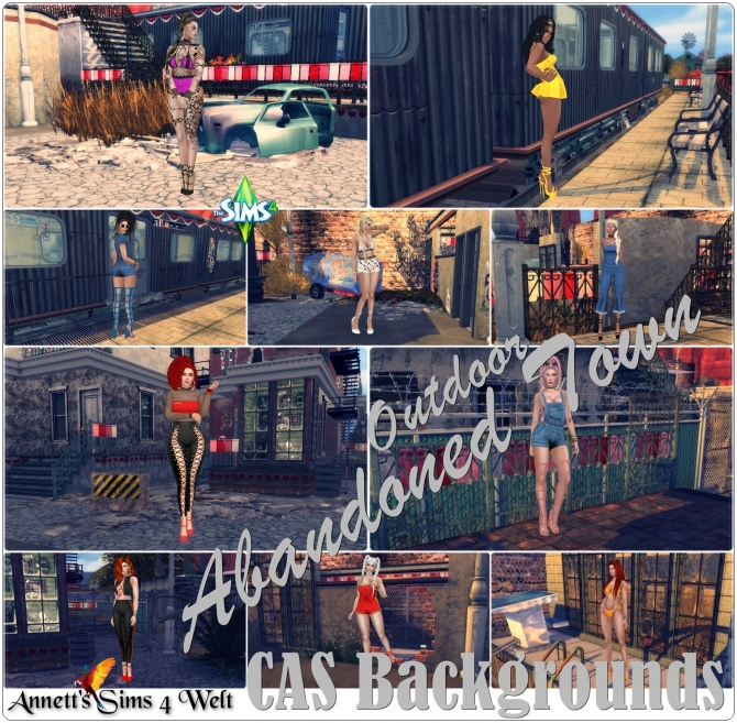 CAS Backgrounds Abandoned Town Outdoor At Annett's Sims 4