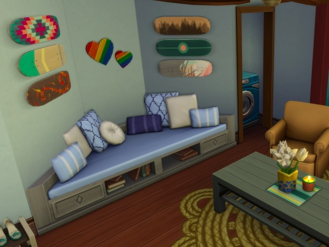 Sims 4 Rustic Oak Alcove by joiedesims at Mod The Sims