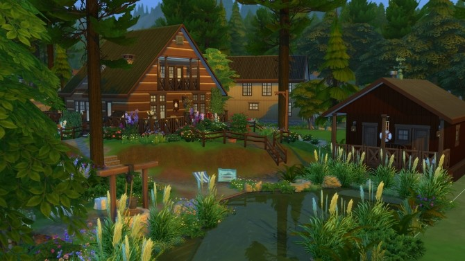 Peaceful Cottage with a Sauna by suojatti at Mod The Sims image 643 670x377 Sims 4 Updates