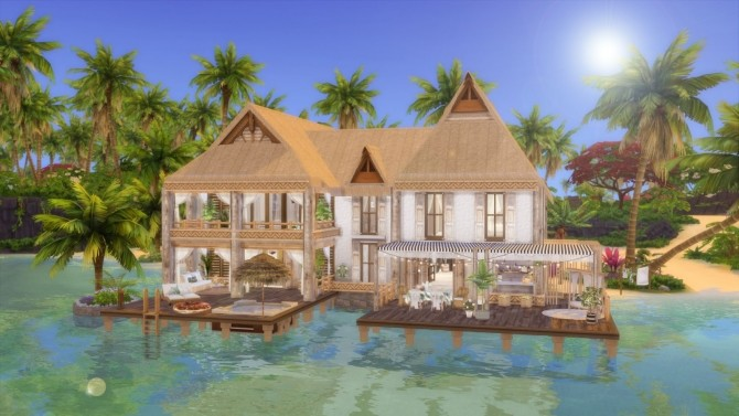 Tropical Island Home at Ruby's Home Design image 6518 670x377 Sims 4 Updates