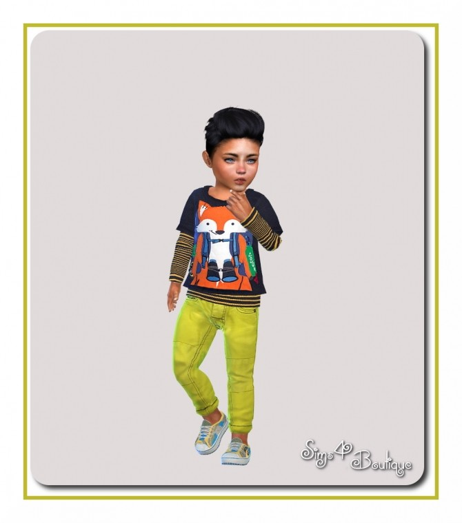 Sims 4 Pants, shirts and shoes for toddlers at Sims4 Boutique