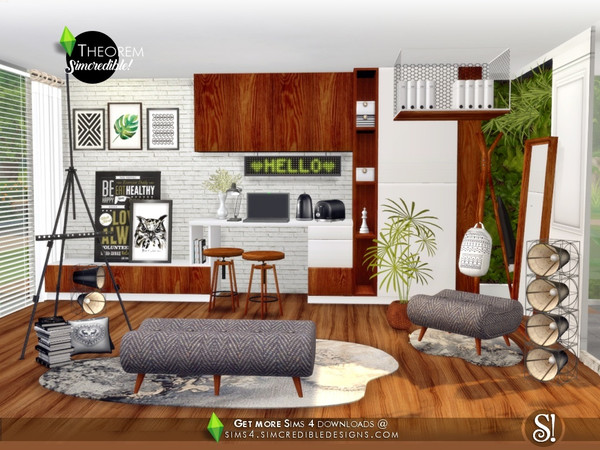 Theorem Study room by SIMcredible at TSR image 656 Sims 4 Updates