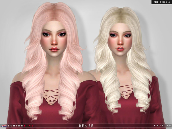 Renee Hair 94 by TsminhSims at TSR image 6617 Sims 4 Updates