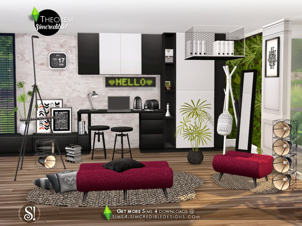 Theorem Study room by SIMcredible at TSR image 665 Sims 4 Updates