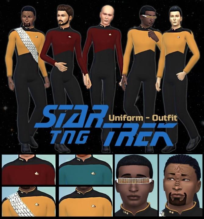 Star Trek uniform TNG at Seger Sims image 673 670x721 Sims 4 Updates